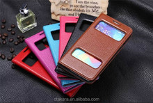 View window flip leather mobile phone cover for samsung Galaxy s5 cover