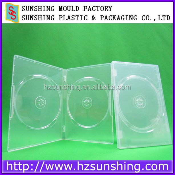 PP 14mm double super clear DVD case/14mm dvd box