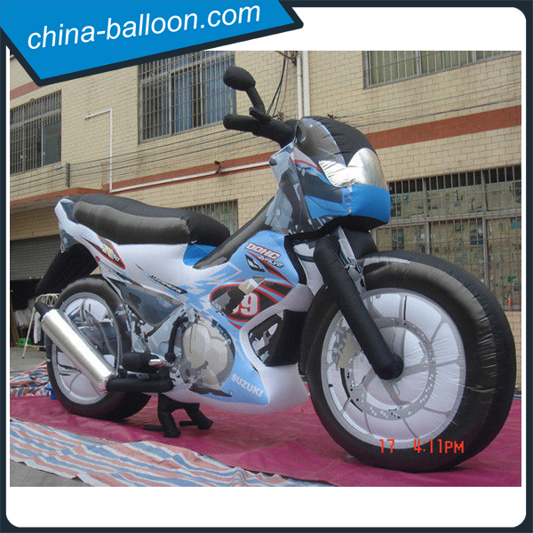 Lifelike inflatable motorcycle model/ advertising inflatable motorbike replica