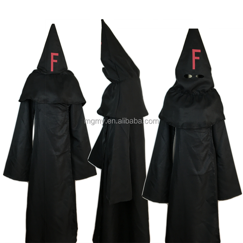 Anime FFF Cosplay Costume Black Cloak Cape follow foolish Fukanzenna ketsumatsu Halloween