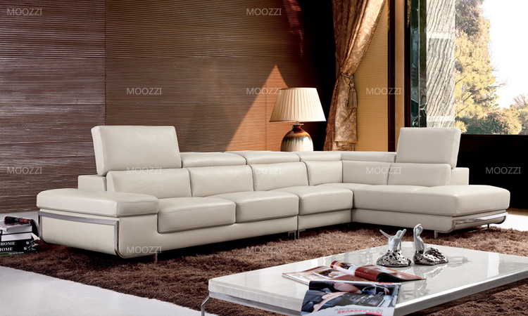 Modern simple leather sofa couches set design