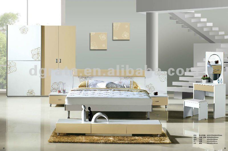 2012 latest sexy adult bedroom furniture with MDF board and painting