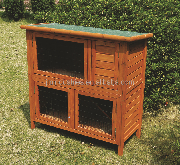 large outdoor strong large cat pet wooden cage house with door and lock