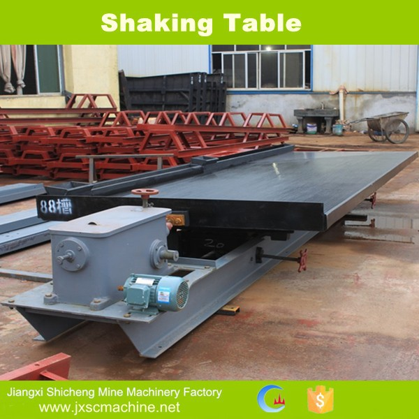 Wifely shkaing table for gold concentrate