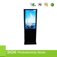 Floor standing 19 inch lcd ad display led back light