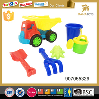 Free shipping Beach plastic truck toy with bucket and shovel toy
