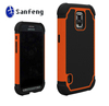 New arrival mobilephone case for galaxy samsung s5 active G870 combo hybird cellphone cover shell with silicone rubber