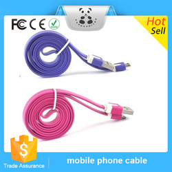 New Good Service Wholesal Colorful Fast Micro Noodle Cable USB Data Sync Charger Wire For Samsung HTC Xiaomi Android