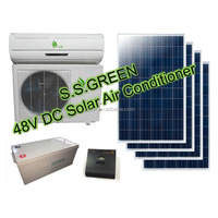 18000Btu 100% 48V solar wall pack air conditioning