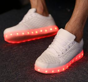Korea new style couple leisure flat lighting women and men fashion shoes