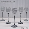 2018 metal crystal candle holder table centerpiece candelabra for wedding centerpiece with party table decoration (CAN-075)