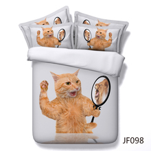 Cute Cat with a Lions Heart HD digital 3d Animal bedding set