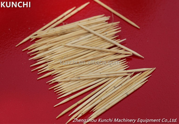 KUNCHI brand high capacity bamboo tooth pick making machine / bamboo toothpick machine with professional technical support