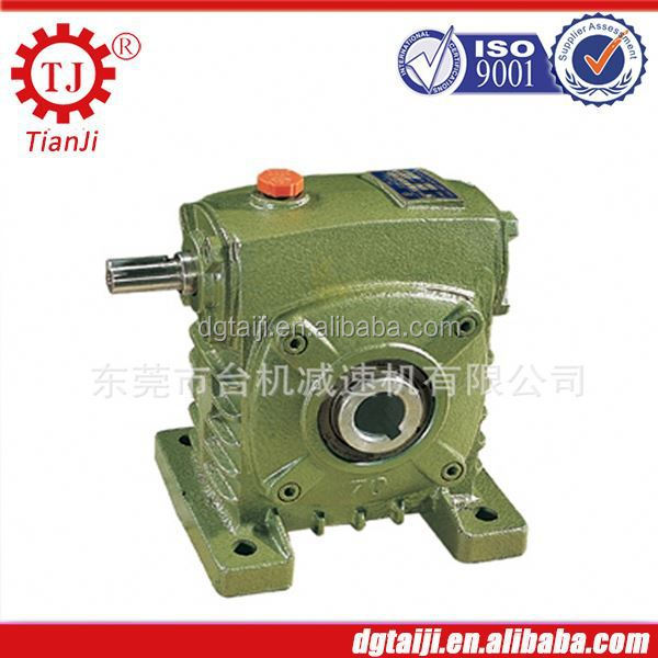 High precision gear speed reductor with hollow shaft