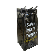 Clear transparent wine bottle pvc custom packaging bag