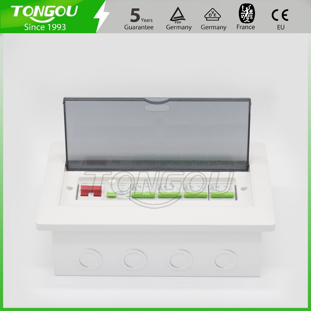 12 ways distribution metal box consumer unit 63A 2P RCD circuit breaker protection flush mounting switch box 5 years warranty