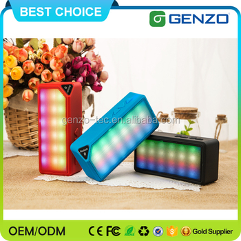 Hottest Top Quality music mini bluetooth speaker with FM radio,LED Light, TF Card support