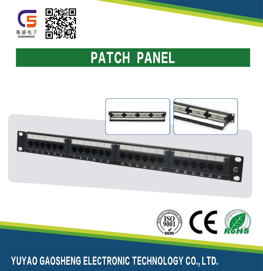 Online Shopping China Supplier Cat5e Cat6 24 Ports Patch Panel RJ45 8P8C 24 ports patch panel professional manufacturer