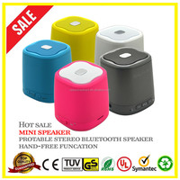 Hot hands free talk function yellow Mini Wireless bluetooth speaker with TF card slot