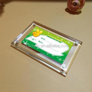 with bevel edge acrylic label/price tag frame