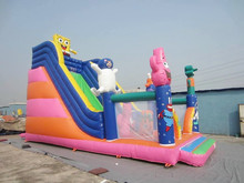 Best popular Spongebob theme inflatable bouncer slide for kids play