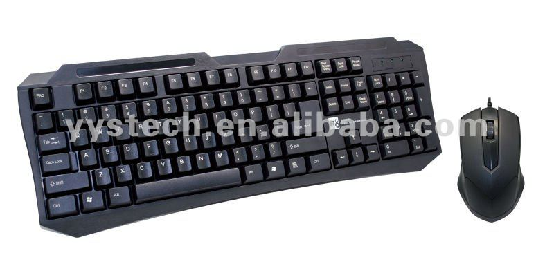 R8 newest wired usb desktop game keyboard mouse combo
