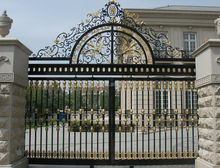 antique and antirust wrought iron fence