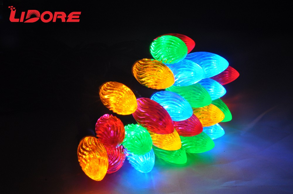 CE CSA UL LIDORE IP65 LED C7 Christmas String Light