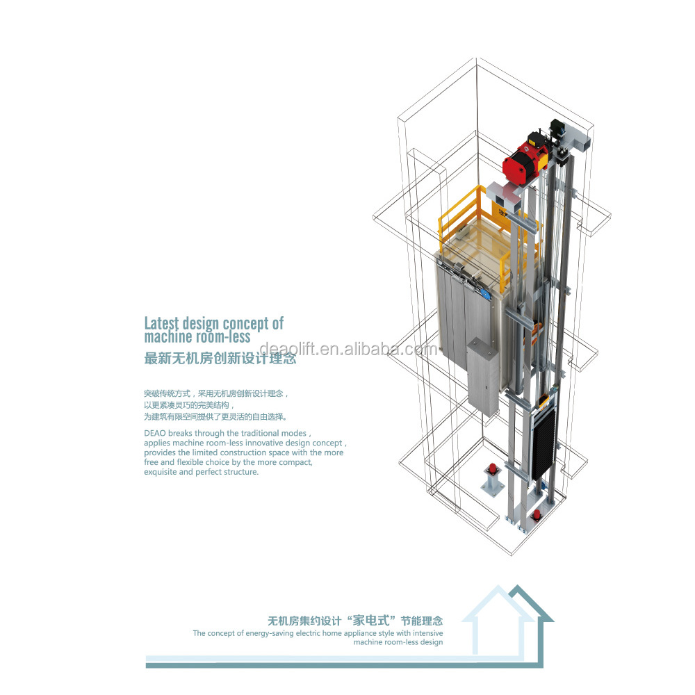 Home Hydraulic Lift Elevator 3 Person Elevator