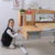 adjustable height desk baby chair and table child drawing table ergomic chair with footrest