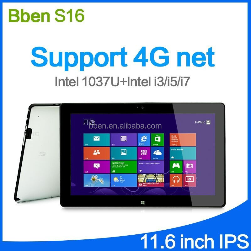 Bben S16 11.6 Inch Intel I5 Tablet pc 256G / 128GB SSD windows 8 tablet 3G/phone call optional tablet-pc