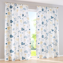 Insulated Pakistan office cotton flower printed window curtain