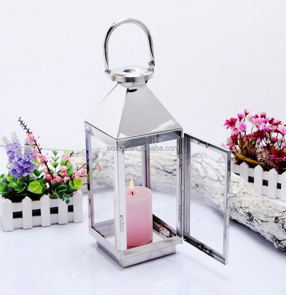 Jardin en acier inoxydable m tal bougie lanterne chandelier id de produit 60131866442 french - Grande lanterne de jardin ...
