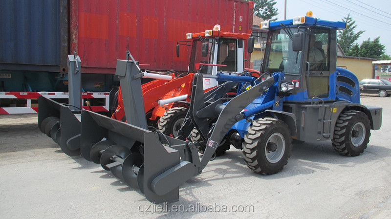 1.5tons mini snow blower front loader (Xinchai498-EURO3,14-17.5 Wider tyre)