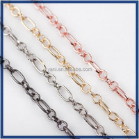 Factory direct wholesale decorative chains for clothes,2016 trendy different types of pendant gold plated chains for jewelry