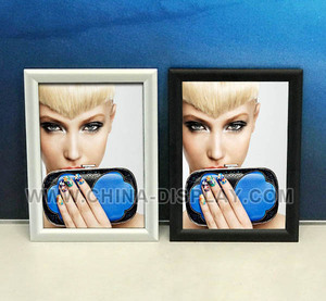 Aluminium photo picture display snapper easy change frame a4