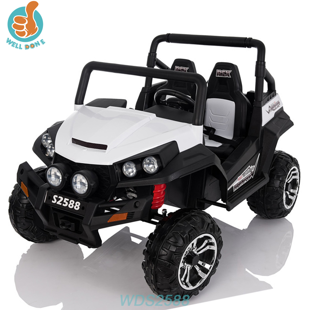 WDS2588 Double Motor Baby Jeep Electric Car For Older Child With One Button Start