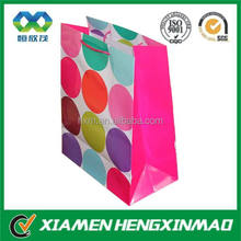 Shopping Paper Bag With Polka Dot