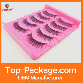 plastic blister tray package for Eyelashes