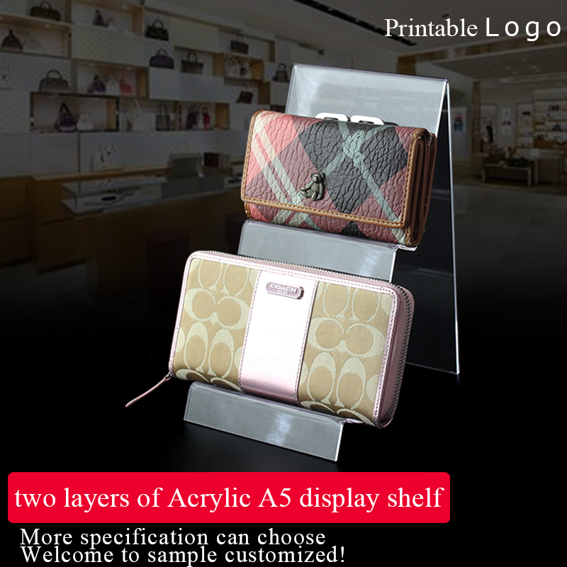 Factory direct price 2-layers acrylic wallet display stand