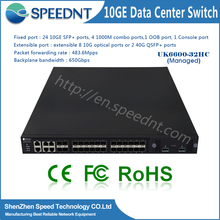 Speednt 24 port 10g optical fiber ethernet switch supporting XModem protocol