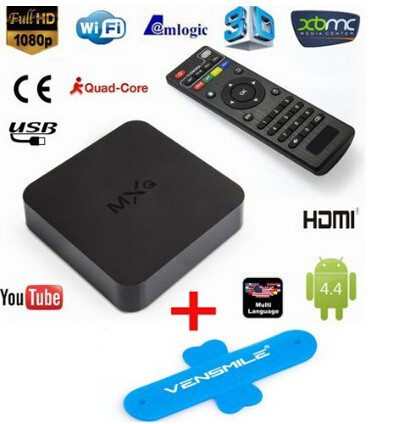 MXQ Amlogic S805 XBMC Quad Core Arabic Magic Android 4.4 Smart TV BOX H.265 1080p 1G 8G Media IPTV Dvb-t2 4K Android TV Box