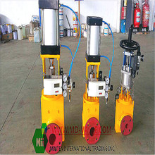 pneumatic DN25-DN1000mm pinch valve with stainless steel body material