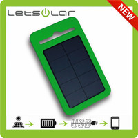 2014 Newest Strong Shockproof and drop resistance waterproof solar power bank solar charger power bank