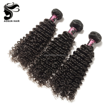 Nature Color Tangle Free Wholesale Raw Indian Curly Hair, Free Sample Hair Weaving