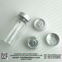 13mm 20mm crimp aluminium bottle lids caps seals for glass bottles