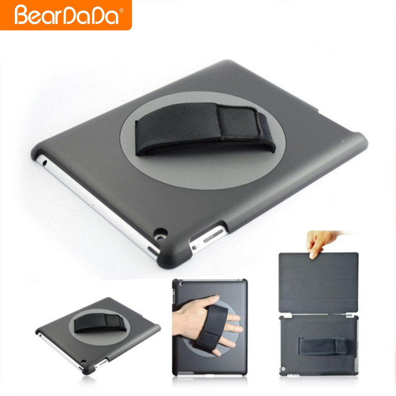 Popular Item 360 Degree Rotating hand strap smart cover for ipad 2,for ipad 3 smart cover