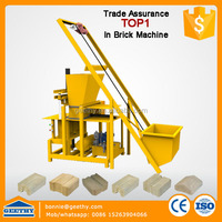 interlocking soil block making machinery GT - UY clay building block making machine