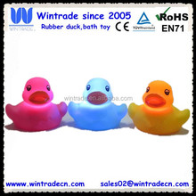Flashing bathtub toy sparkle light duck waterproof led animal