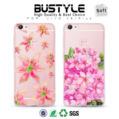 Blue 3D Embossing Custom Colorful Flower Design PC Hard Mobile Cover For iPhone 6 7 7 Plus Phone Case